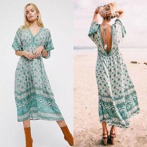 Spell Kombi Folk Dress in Sage